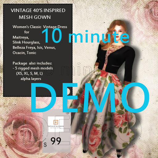 10 MINUTE DEMO Totally Random Floral ( Rosey) Retro Vintage Mesh