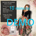 10 MINUTE DEMO Totally Random Floral ( Rosey) Retro Vinage Mesh