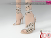 Full Perm Rhinestone Ankle Boots Leaves Gladiator Sandals High Heels Slink High, Maitreya High