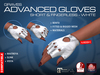GRAVES Advanced Gloves - Short & Fingerless - White - leather latex gloves