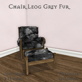 **Mistique** Chair Leog Grey Fur (wear me)