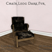 m  chair dark furad