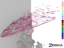 Zibska ~ Becky Color change wide brim hat and orbit