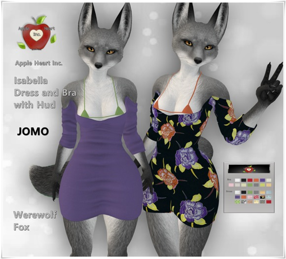 Apple Heart Inc. Jomo Isabella Dress and Bra with Hud