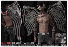 Razor/// ILx-80 Blade Wings - Brushed Steel w/ HUD