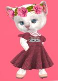 Lexxie Dinkies Rose Knit Dress
