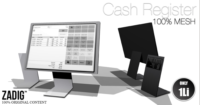 ZADIG - Cash Register (1 prim, 100% MESH)