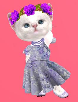 Lexxie Dinkies Blue Flowers