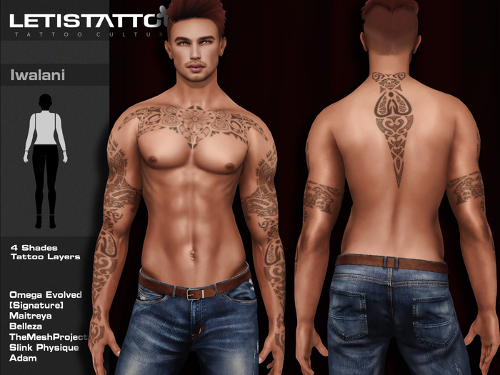 Letis Tattoo :: Iwalani :: Tattoos Bakes On Mesh & Legacy Signature and more Appliers