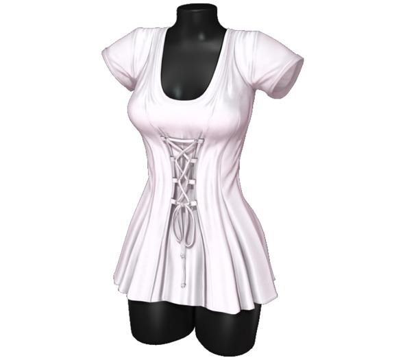 Sweet Thing. Elisa Corset Dress - White (Maitreya, Hourglass, Isis, Freya)