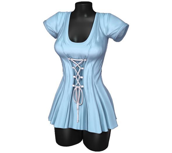 Sweet Thing. Elisa Corset Dress - Blue (Maitreya, Hourglass, Isis, Freya)