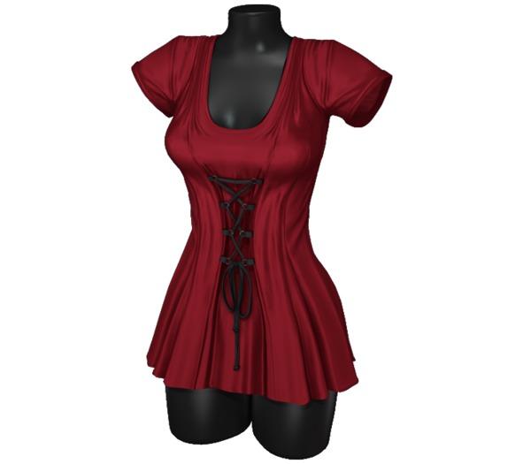 Sweet Thing. Elisa Corset Dress - Scarlet (Maitreya, Hourglass, Isis, Freya)