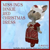 Miss Ing's Dinkie Red Christmas Dress Set