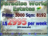Paradise World Estates - L$ 2995 - 3000 prims - Land For Sale - Land Rentals