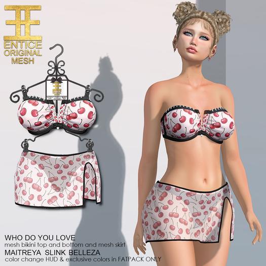Entice - Who Do You Love Bikini - Cherries