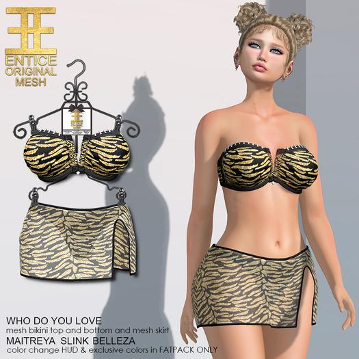 Entice - Who Do You Love Bikini - Tiger