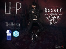 [LHP] OCCULT - SATANIC RIPPED SHIRT [M]