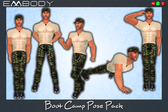 Embody 5 Pose Pack M BOOT CAMP