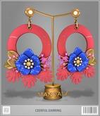 [MANDALA]Cheerful Earring-Red(wear me to unpack!)