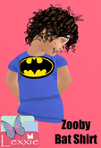 Lexxie Zooby Child Bat Shirt HUD
