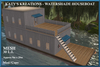 LIMITED PROMO - WATERSHADE HOUSEBOAT - 30LI - WHITE. Boathouse. Can also be used as a Beach House