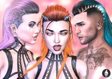 Action Inkubator Hair Izzy / / / BENTO RIGGED / Cyberpunk