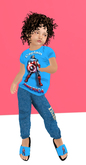 Lexxie Zooby Child Captain America Outfit