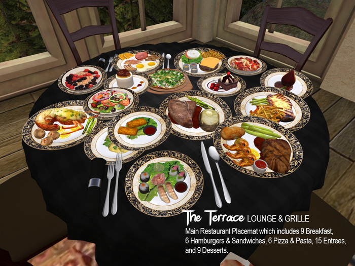 The Terrace Lounge & Grille Main Restaurant Placemat