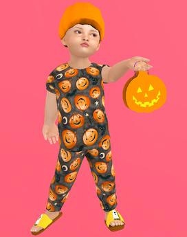 Lexxie Zooby Child Halloween Pumpkin Combo