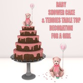 WCP ~ BABY SHOWER CAKE & TABLE DECORATION IT'S A GIRL