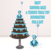 WCP ~ BABY SHOWER CAKE & TABLE DECORATION IT'S A BOY