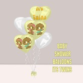 WCP ~ BABY SHOWER BALLOONS IT'S TWINS
