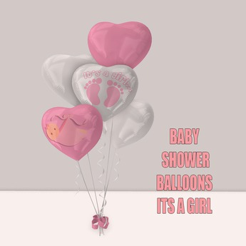 WCP ~ BABY SHOWER BALLOONS IT'S A GIRL