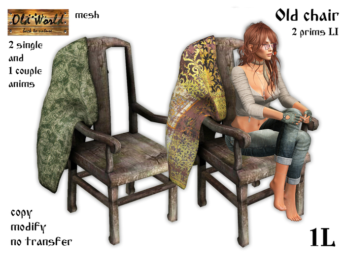Medieval Old chair - Old World - Rustic Furniture