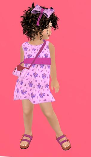 Lexxie Zooby Child Flowers Dress 1