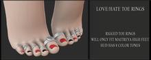 Candy Crunchers - hate/Love Toe Rings - maitreya High