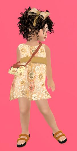 Lexxie Zooby Child Flowers Dress 2