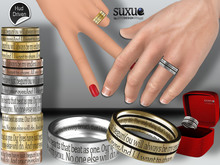 [SuXue Mesh] FATPACK Vitaly Bento & Classic UnRigged Bands HUD Resize Marriage proposal pose Female & Male