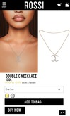 Rossi. Double C  Necklace- Silver