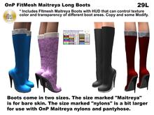 OnP Mesh Maitreya Boots long
