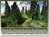 Mesh Fir Forest Module Seasons Building Set 20 Parts copy-mody