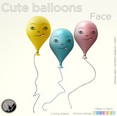 *PC* Cute Ballon Face Set
