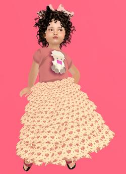Lexxie Zooby Child Lamb Dress Combo