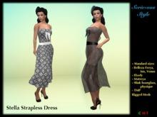 SS180127 Stella Strapless Dress - black