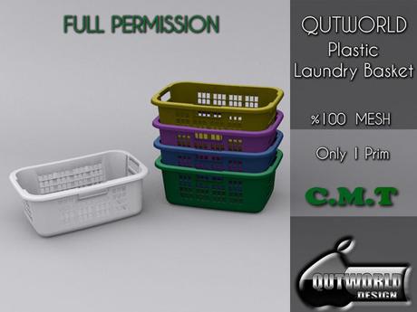 .::QUTWORLD Plastic Laundry Basket::.FP