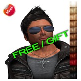 "FREE edeLsToRe men mesh hair "" Ted "" all colors  short male hair FREEBIE GIFT PROMO GRATIS  (Special Rigged Fitted Mesh"