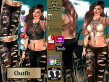 V-Twins - Biker Clothes - Prophecy Biker Version **MESH Outfit [Mesh Bodies Compatible] Maitreya Slink Belleza