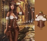=Zenith=Steampunk Corset Armor (Wood) -Lara