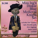 Miss Ing's Dinkie Blue Medieval Knight Set