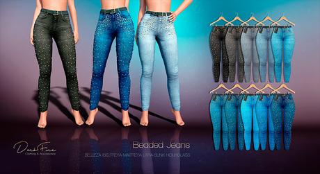 DarkFire Beaded Jeans-FatPack